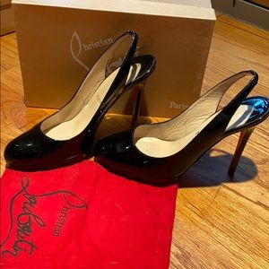Christian Louboutin Horatio Sling 120 Patent Pump